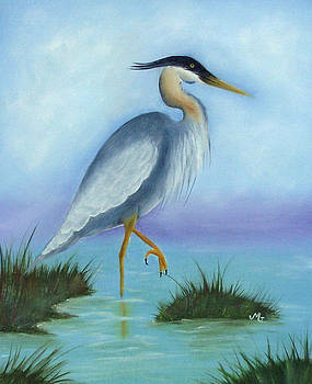 Patience Blue Heron by Mary Gaines
