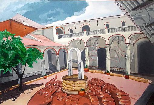Patio Colonial by Lazaro Hurtado