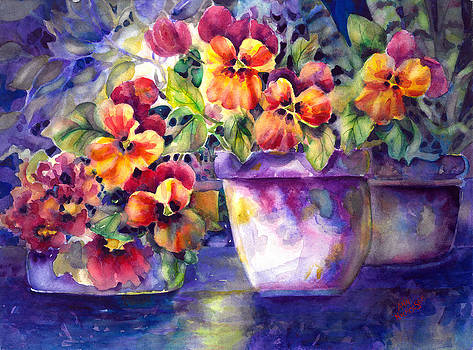 Patio Pansies by Ann  Nicholson