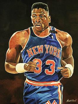 Patrick Ewing New York Knicks by Michael  Pattison