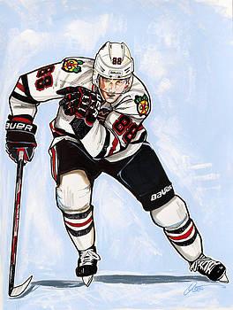 Patrick Kane of the Chicago Blackhawks by Dave Olsen