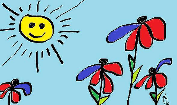Patriotic Flowers by Vivian Sutherland