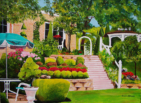 Patti's backyard by Suzanne Johnson