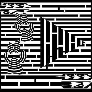 Paws Pause Play Maze by Yonatan Frimer Maze Artist
