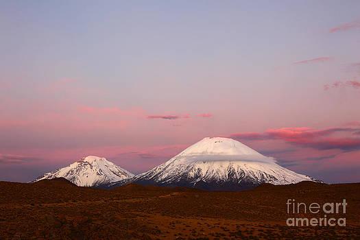 James Brunker - Payachatas volcanos at sunset