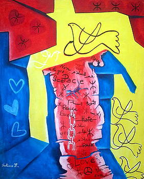 Peace paix  pace by Fatima Hameurlaine