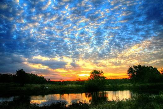 Peaceful East Texas Morning Sunrise by Lorri Crossno