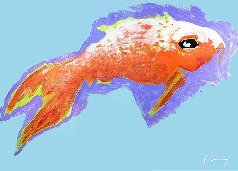 Peaceful Orange Goldfish by Robert Conway