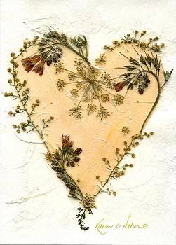 Peach Heart II by Karen Nelson