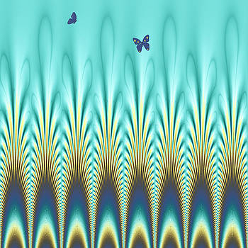 Peacock Abstract 1 by Faye Giblin