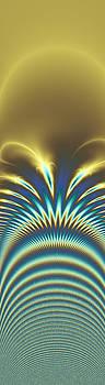 Peacock Abstract 2 by Faye Giblin