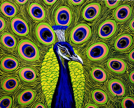 Peacock Mistique by Adele Moscaritolo