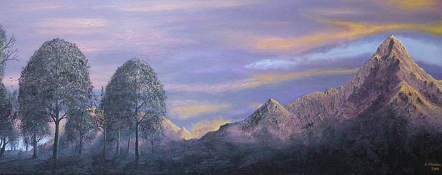 Peaks at sunset by Lisa Marina
