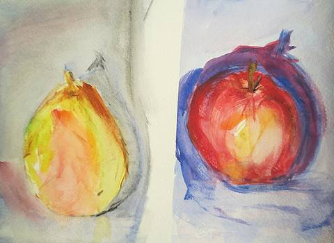 Pear and Apple by Cindy Lawson-Kester