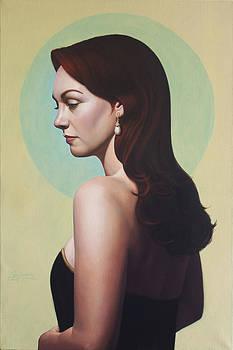 Pearl Earring by Gary  Hernandez