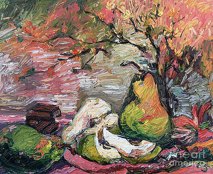 Ginette Callaway - Pears and Chocolate Still Life