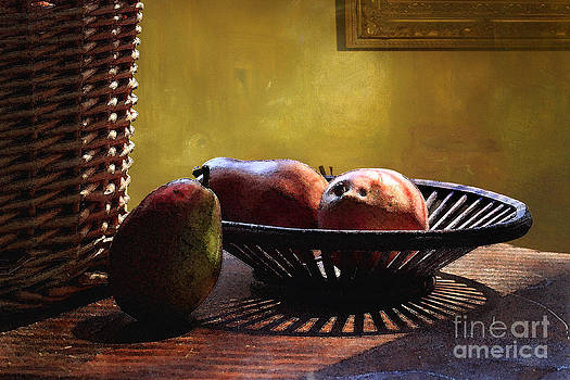 Pears In Morning Light by Lawrence Costales