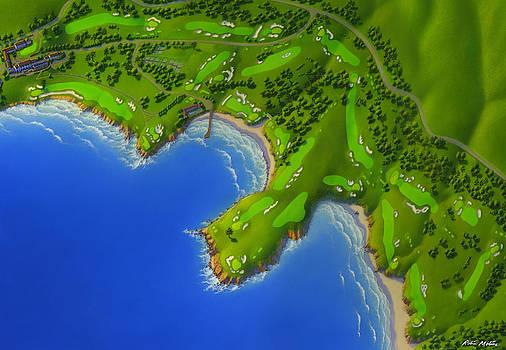 Pebble Beach Golf Course by Robin Moline