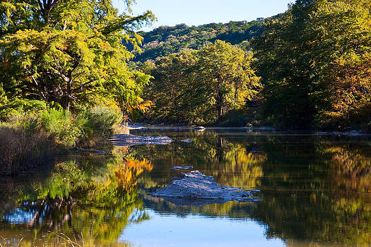Pedernales River On A Cold November Morning by Mark Weaver