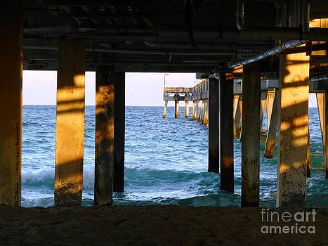 Peering from Under the Pier in Florida by Debb Starr