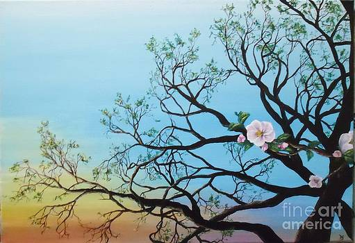 Peinture acrylique matin de printemps by Danse DesSonges