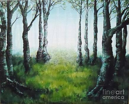 Peinture acrylique Promenons nous dans les bois by Danse DesSonges