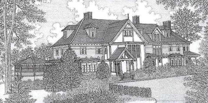 Pen and Ink House Portrait by David Hinchen