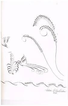 Pen flourish accent strokes by Valerie VanOrden