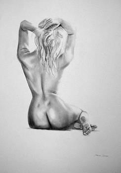 Pencil Nude 15 by Steve Jones