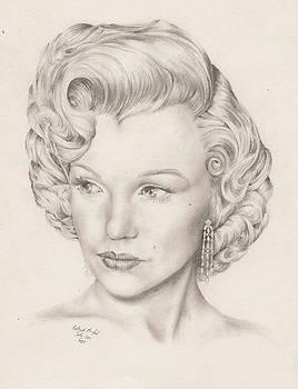 Pencil Study of Marylin Monroe by Richard Mountford