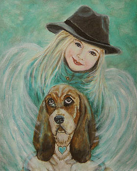Penelope and Charlie Little Angel of Faith and Loyalty by The Art With A Heart By Charlotte Phillips