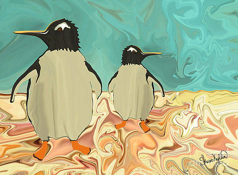 Penguins in Paradise by Sherin  Hylan