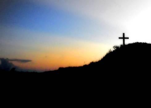 Pensacola Beach Cross by Shayne Johnson Fleming