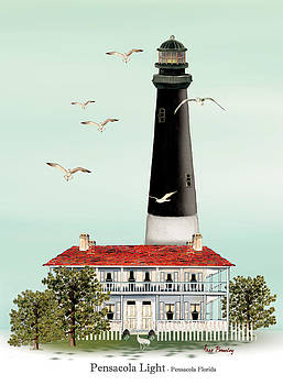 Pensacola Light House by Anne Beverley-Stamps