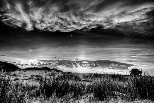 Pensacola Sunset Black and White by Bryan Davis