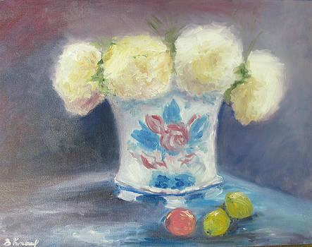 Peonies in China Vase by Barbara Anna Knauf