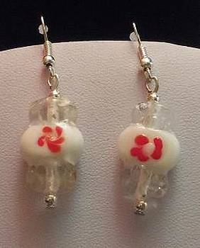Peppermint Candy Earrings by Kimberly Johnson