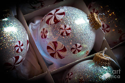 Peppermint Pinwheel Ornaments by Joann Copeland-Paul
