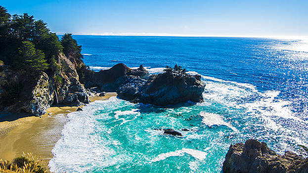Perfect Day at McWay Falls in Big Sur by Brandon McClintock