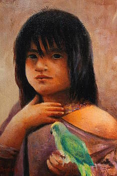 Peruvian Girl by Julio Ortiz