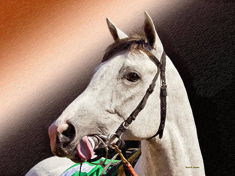 Angela A Stanton - Phantom Lover Race Horse looking on