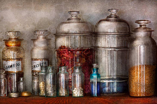 Mike Savad - Pharmacy - Mysterious pebbles powders and liquids