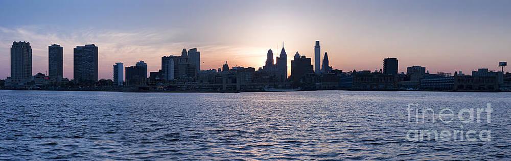David Zanzinger - Phila PA Skyline Skyscrapers Downtown silhouette
