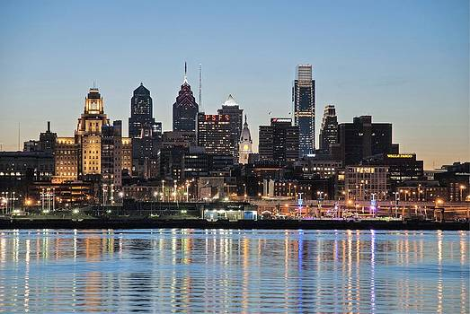 Philly sunset by Jennifer Ancker