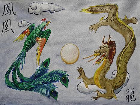 Phoenix and Dragon by Jeffrey Oleniacz