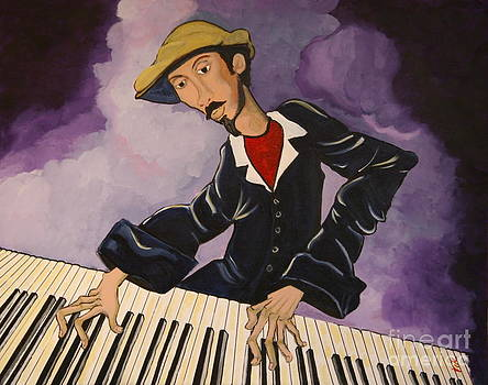 Piano Man by Vickie Scarlett-Fisher