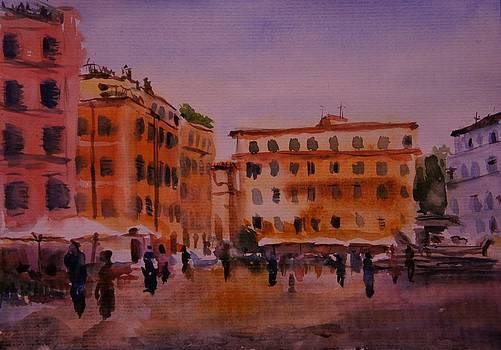 Piazza Santa Maria In Trastevere by Litvac Vadim