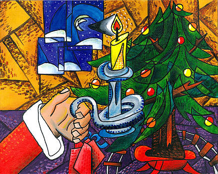Picasso STYLE Christmas Tree - Cover Art by E Gibbons