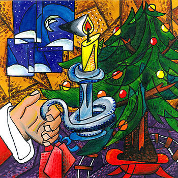 Picasso Style Christmas Tree by E Gibbons