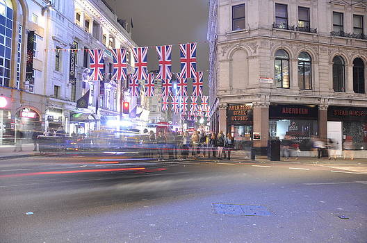 Piccadilly at Night  by Tanis Crooks
